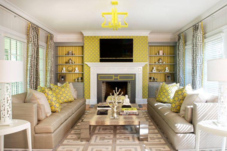 colores amarillo gris decoracion llamativa