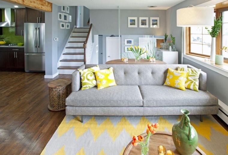 colores amarillo gris decoracion sutil