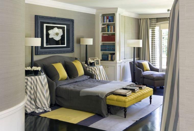 colores amarillo gris dormitorio 2021