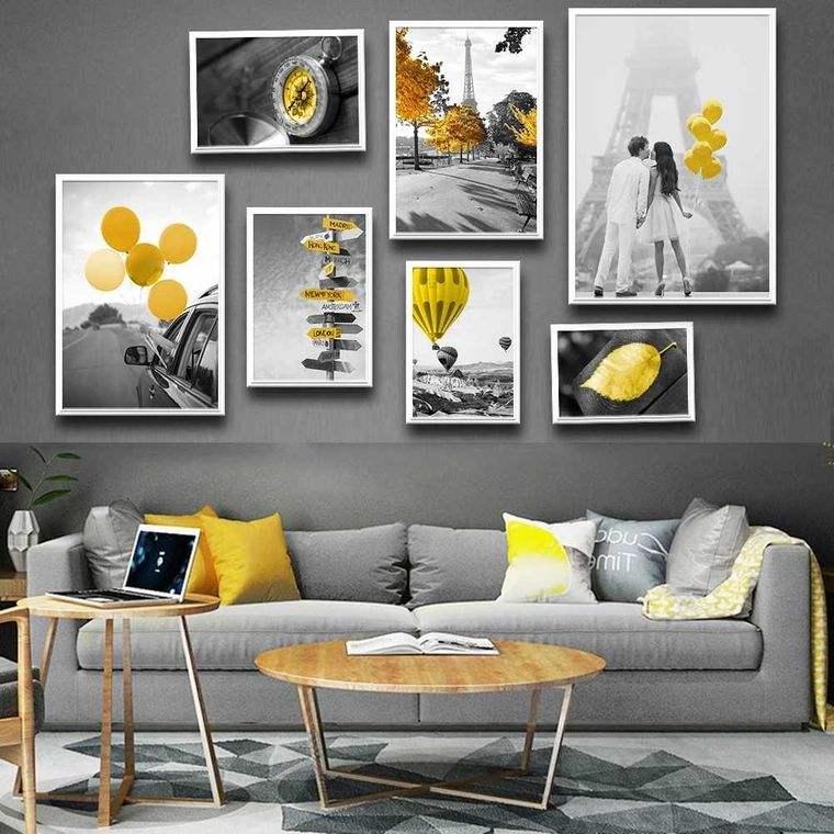 colores amarillo gris equilibrio