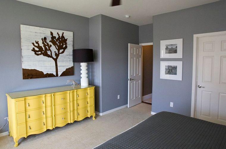 colores amarillo gris muebles