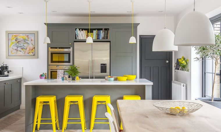 colores amarillo gris para cocina