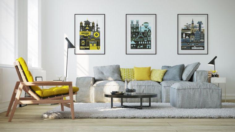 colores amarillo gris predominantes