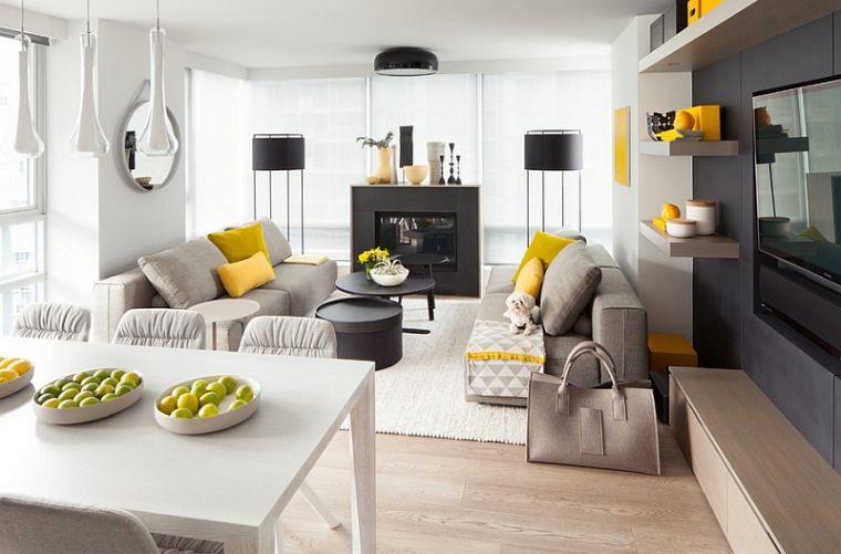 colores amarillo gris tendencia 2021