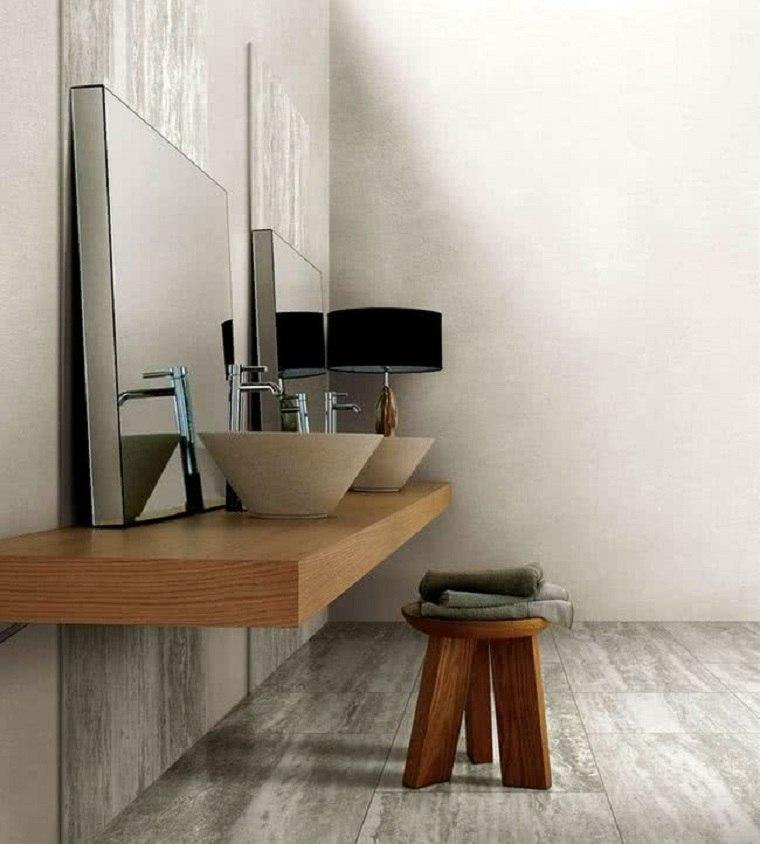 decorar-muebles-madera-bano-estilo