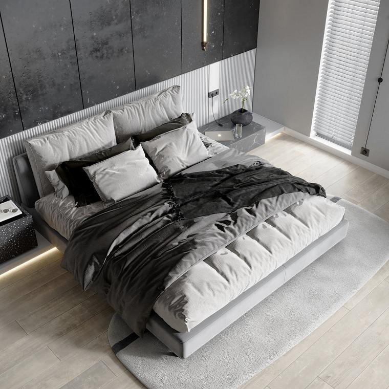 Dormitorios de matrimonio modernos 2021-colores-neutrales