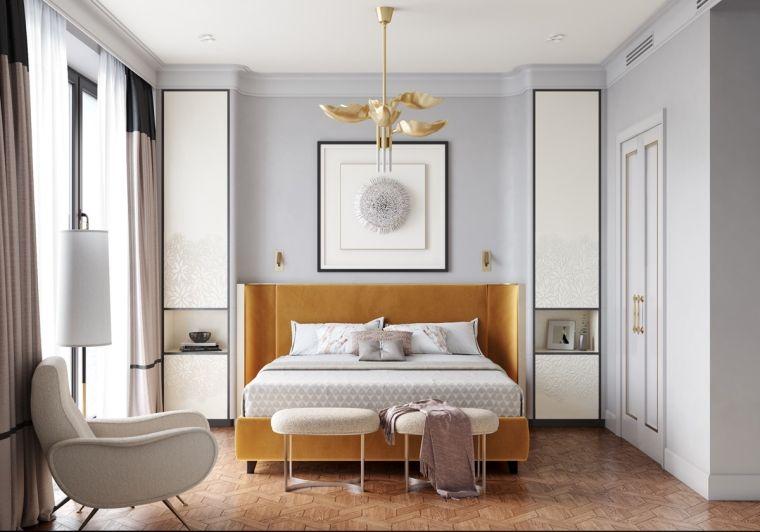 Dormitorios de matrimonio modernos 2021-gris