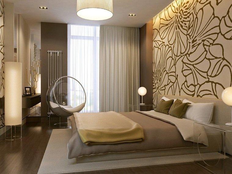 Dormitorios de matrimonio modernos 2021-ideas-pared