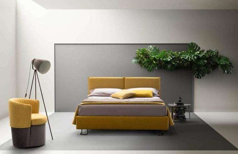 Dormitorios de matrimonio modernos 2021-pantone