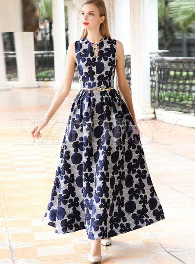estampados florales en vestidos