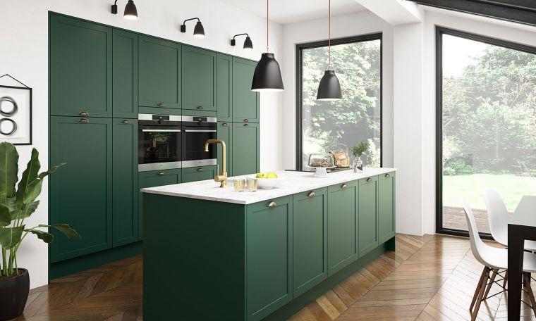 estilos de cocinas color verde