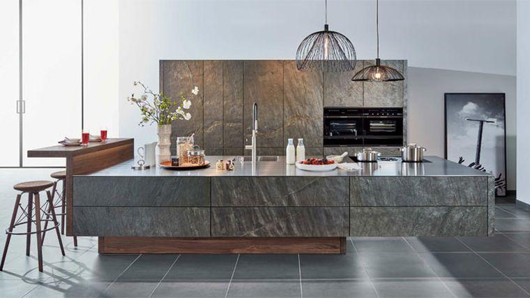 estilos de cocinas con amplio espacio