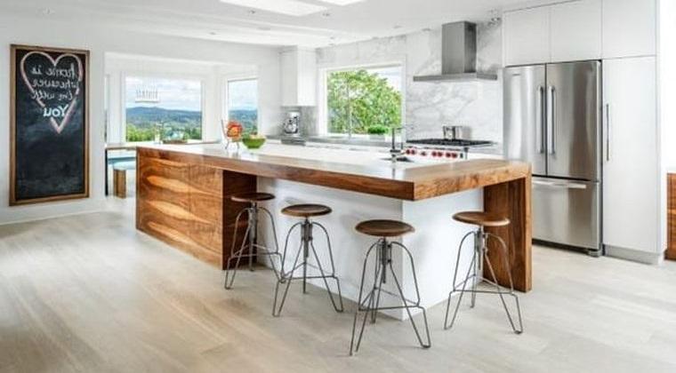 estilos de cocinas con madera