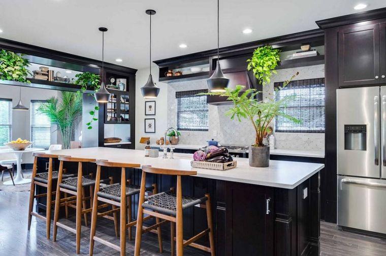 estilos de cocinas con plantas