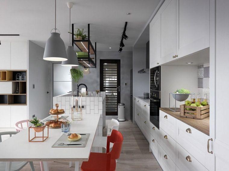 estilos de cocinas escandinavo moderno