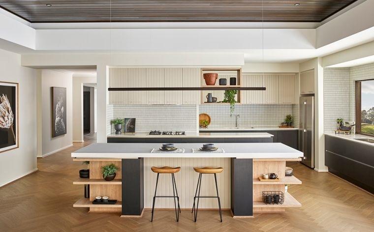 estilos de cocinas espaciosas
