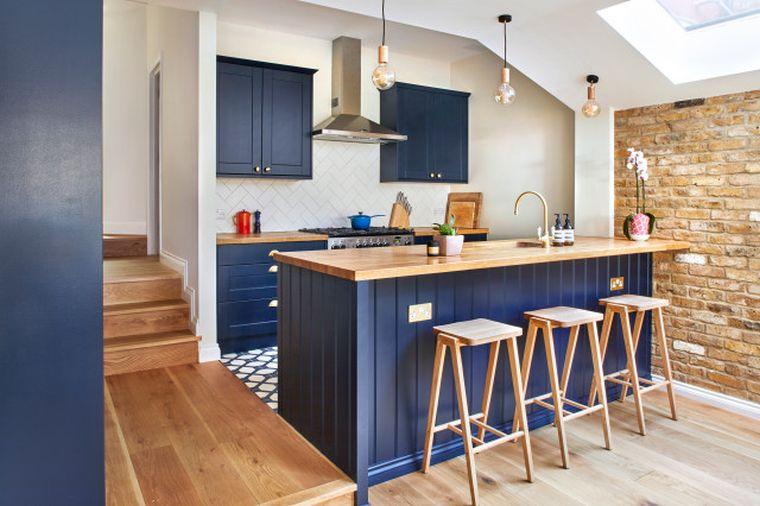 estilos de cocinas hermoso azul