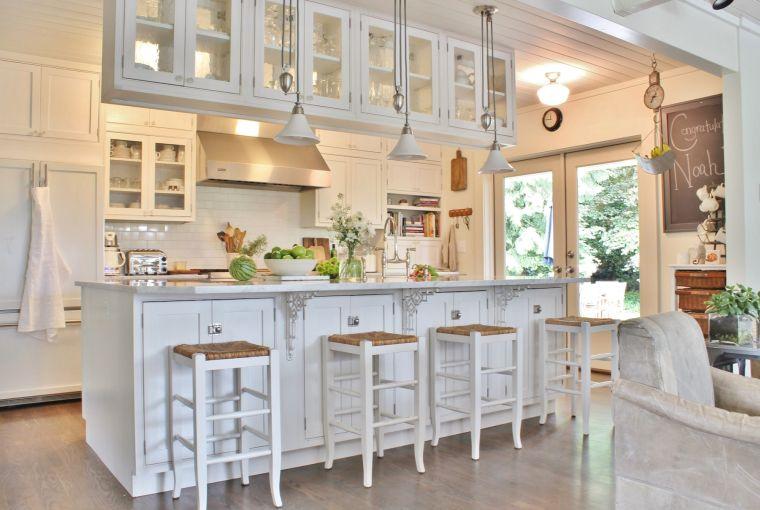 estilos de cocinas madera blanca