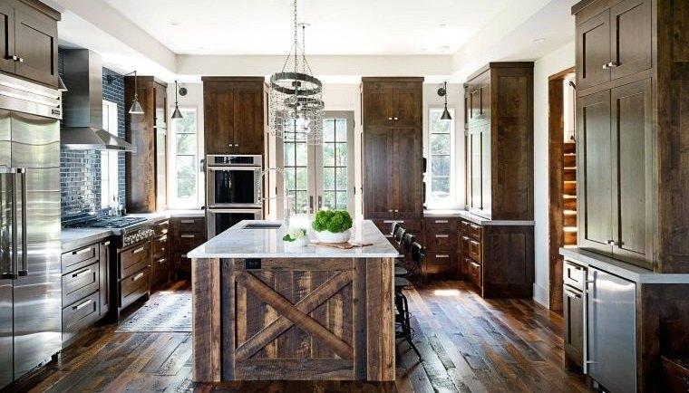estilos de cocinas materiales rusticos