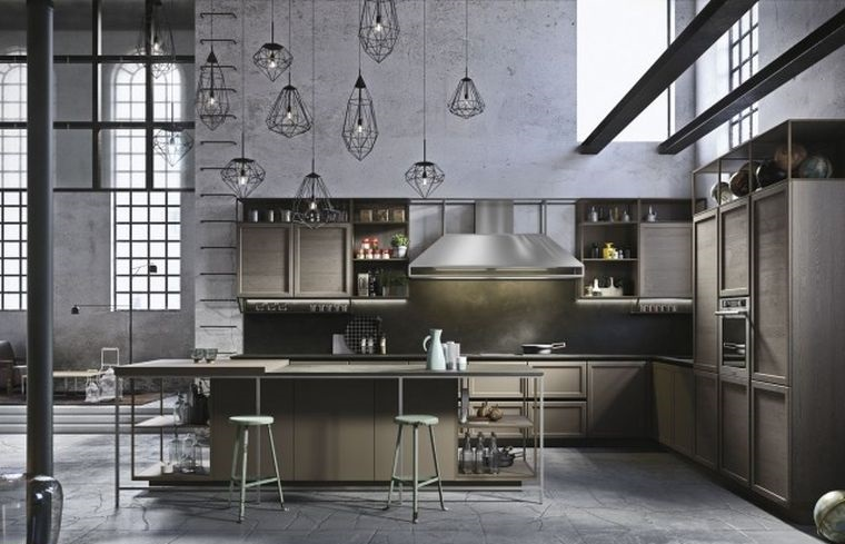 estilos de cocinas tipo industrial