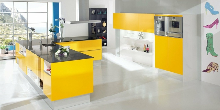 isla-cocina-ideas-originales-color-amarillo