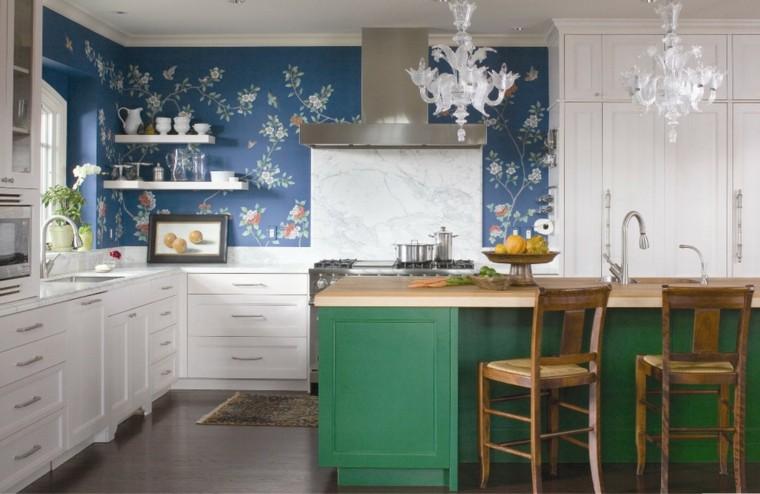 Islas de cocina modernas -color-azul