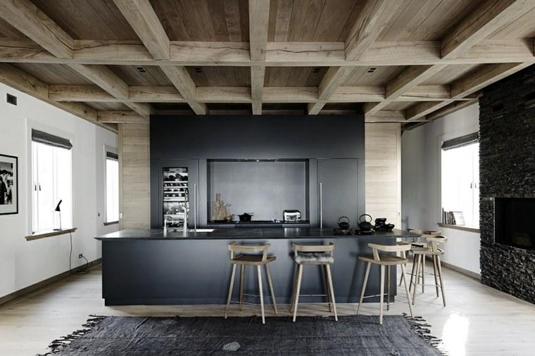 Islas de cocina modernas color-negro-opcines