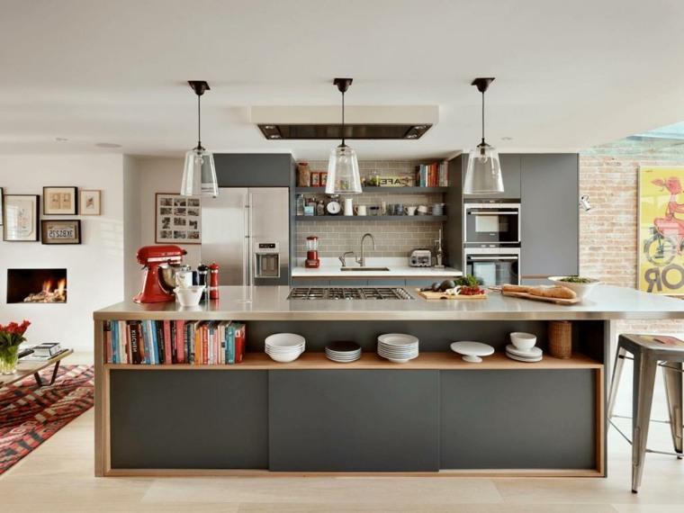 Islas de cocina modernas -color-negro