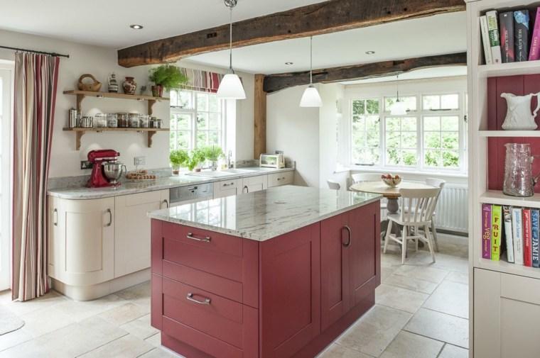 islas-de-cocina-modernas-color-rojo