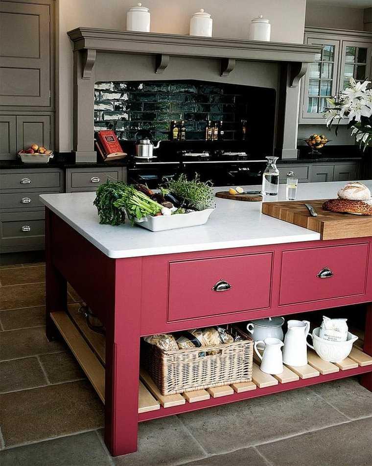 islas-de-cocina-modernas-color-rosa