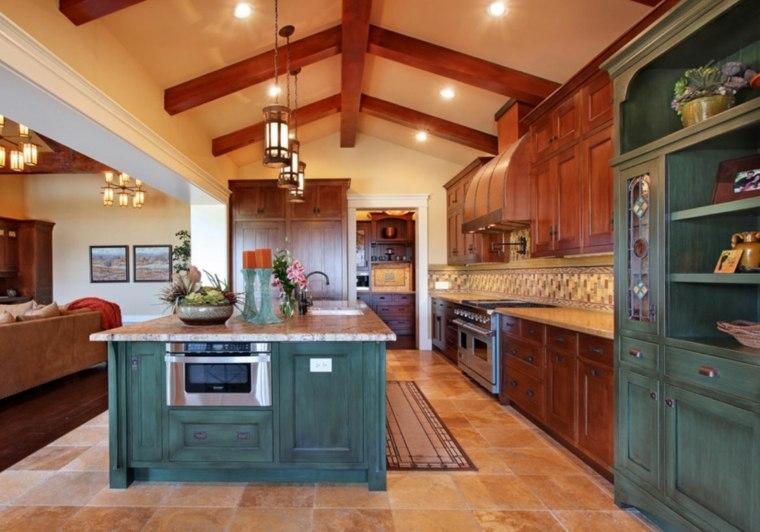 islas-de-cocina-modernas-color-verde-diseno