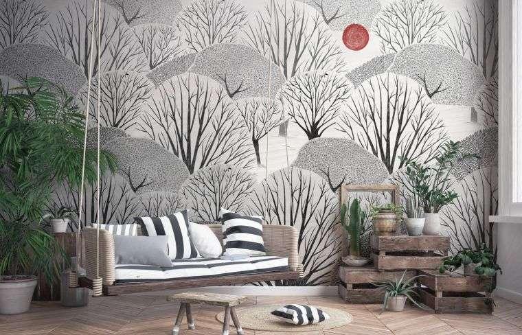 japandi uso papel tapiz