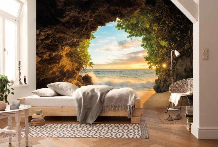 papel tapiz 3D sala de estar