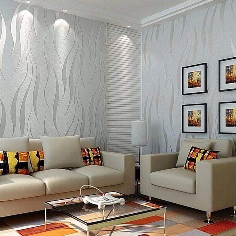 papel tapiz con toques metalicos