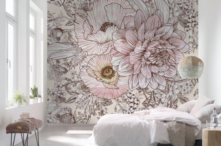 Papel tapiz en tendencia 2021 para la decoración de interiores