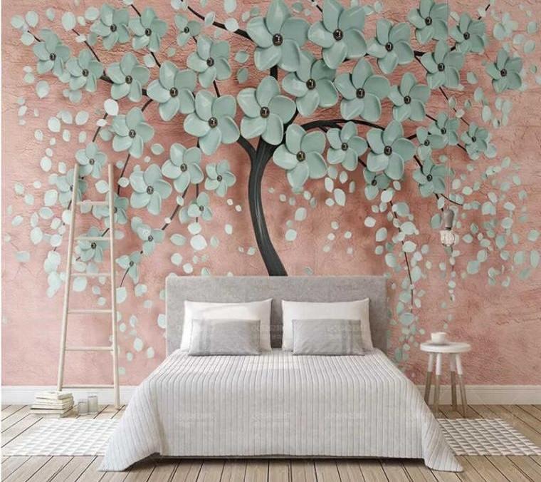 papel tapiz tendencia flores