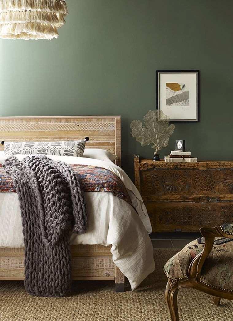 pared-verde-dormitorio-estilo