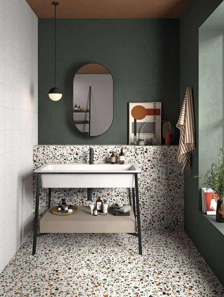 pared-verde-ideas-bano-pequeno
