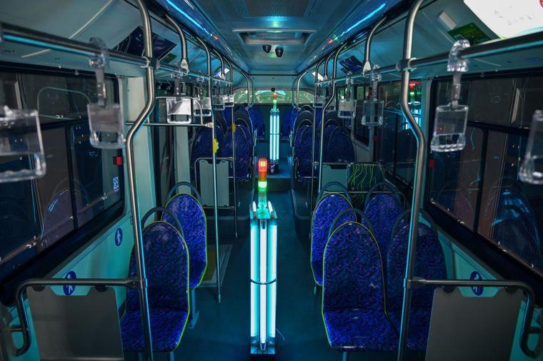 rayos ultravioleta desinfectar transporte