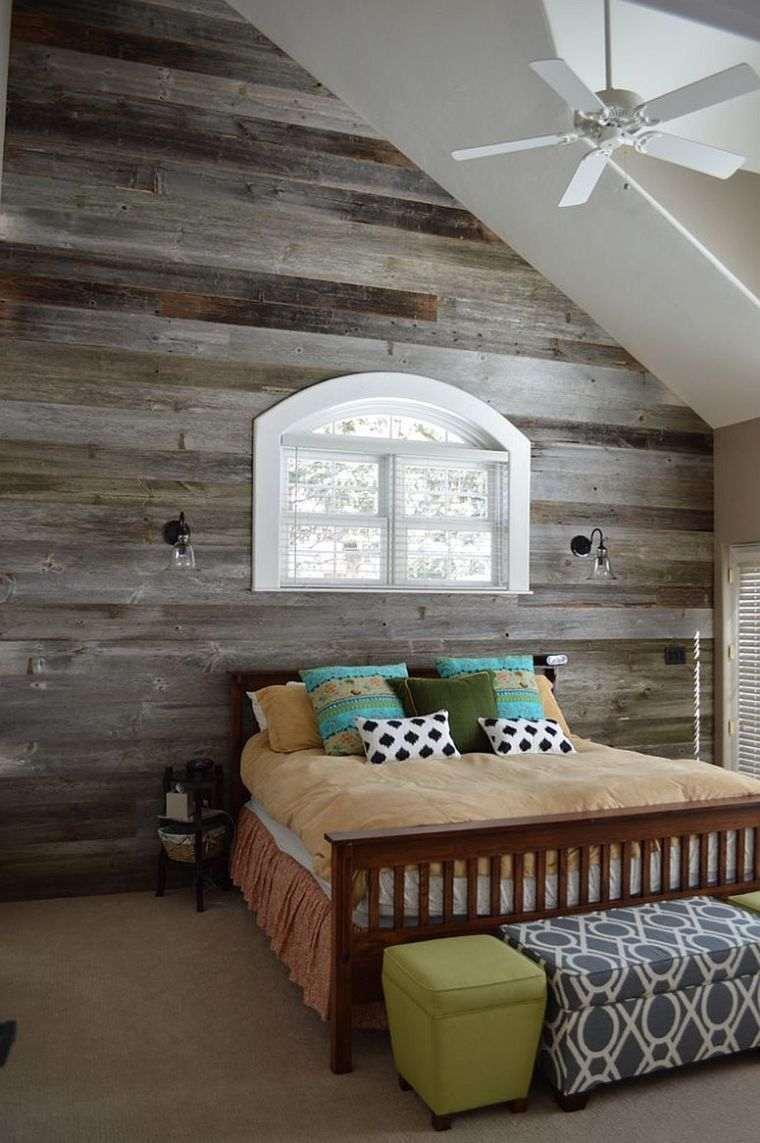 Paneles de madera para paredes interiores ideas para el dormitorio