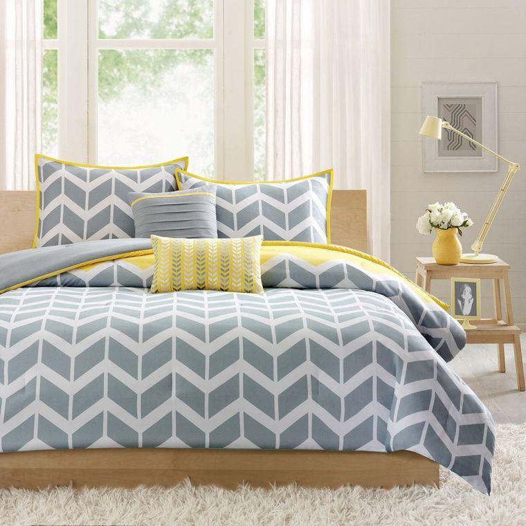 ropa-cama-gris-amarillo-ideas