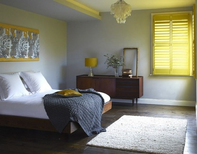 tendencias decoración amarillo gris