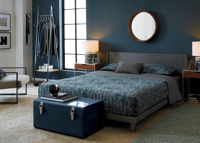 tendencias decoración dormitorios azul oscuro