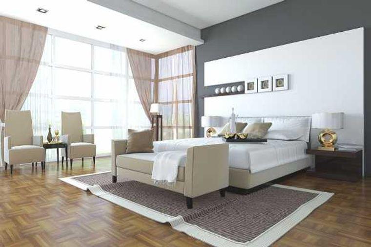 tendencias decoración dormitorios con gris