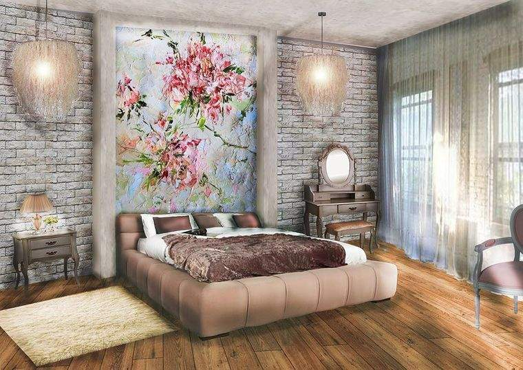 tendencias decoración dormitorios pared acento
