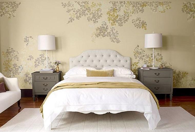 tendencias decoración papel tapiz dormitorios
