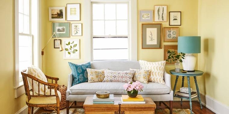Colores que combinan con amarillo decorar-cuadros