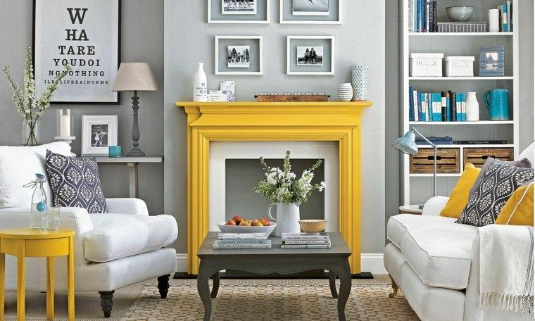 Colores que combinan con amarillo-gris-paredes