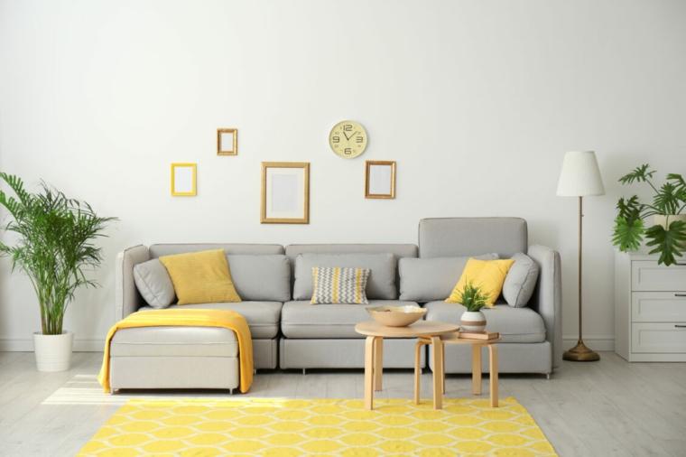 Colores que combinan con amarillo-gris