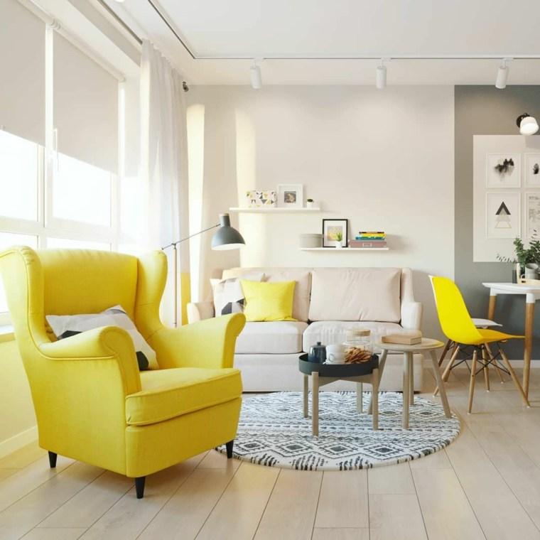 Colores que combinan con amarillo sillon-sillas